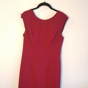 Maroon/red work dress